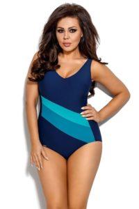 Klasické jednodílné plavky bez kostic Prisca