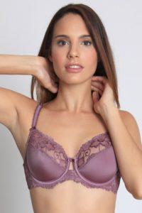 Elegantní fialová nevyztužená podprsenka