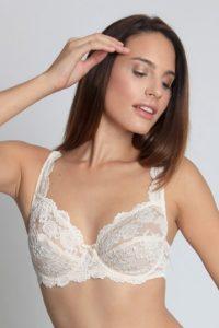 Nevyztužená – bílá krajková podprsenka