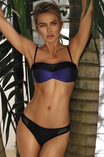 Dámské fialovo-modré dvoudílné plavky s push-up Miami