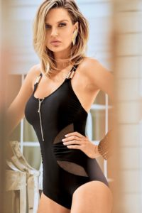 Dámské černé jednodílné plavky pro perfektní postavu