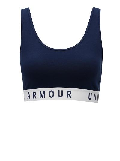 Sportovní modrá dámská podprsenka Under Armour