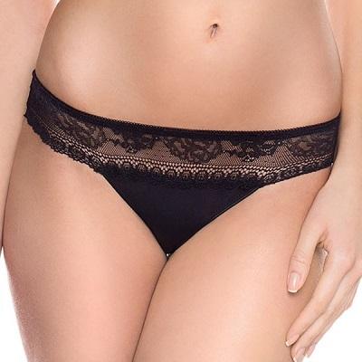 Dámské spodní prádlo – klasické tmavé kalhotky Caren