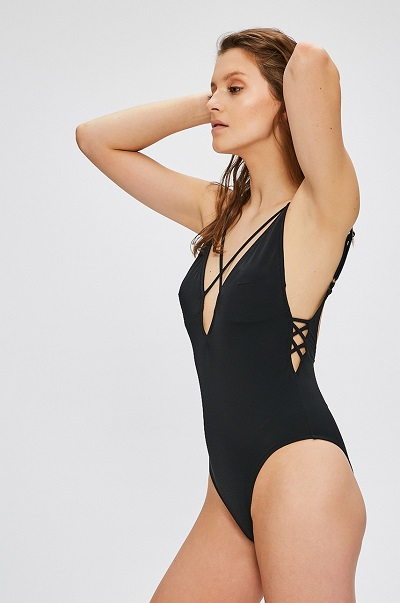Černé jednodílné jednobarevné dámské plavky