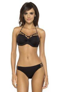Černé designové dvoudílné plavky Lorin