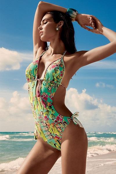 Úžasně pestré jednodílné dámské plavky Vacanze