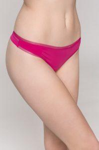 Luxusní dámské spodní prádlo – růžová Tanga Calvin Klein