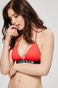 Červené dámské plavky – horní díl Calvin Klein
