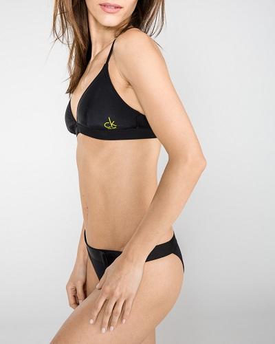 Černé dámské dvoudílné plavky Calvin Klein –  horní díl