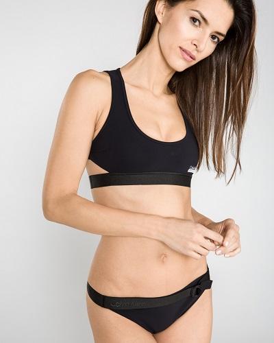 Černé sportovní dvoudílné plavky Calvin Klein – horní díl