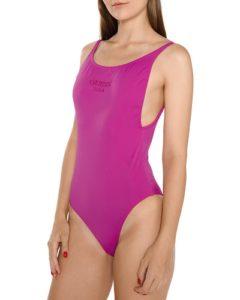 Fialové elegantní dámské jednodílné plavky Guess