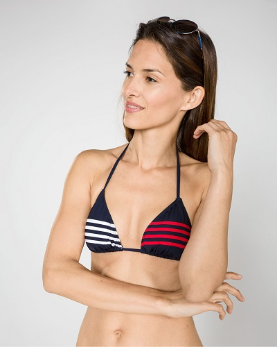 Dvoudílné plavky Tommy Hilfiger v barvách značky - horní díl - ONLYSHE 23ae596a1fb