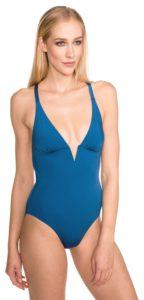 Modré dámské jednodílné plavky Heidi Klum Intimates