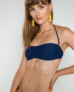 Modré dvoudílné dámské plavky Guess – horní díl