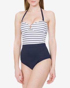 Pruhované dámské jednodílné plavky French Connection