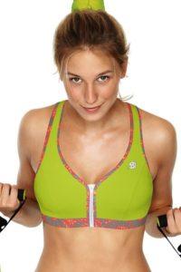 Zelená sportovní podprsenka bez kostic Shock Absorber