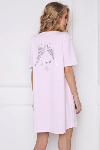 Růžová andělská dámská noční košile Angel